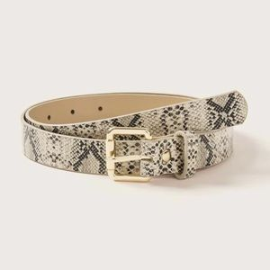 LAST 1! Light Snakeskin Belt